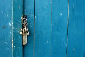 blue door keys